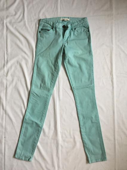 Jean Color Verde Agua Para Adamas