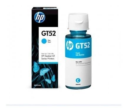Botella De Tinta Hp Gt52 Cyan 70 Ml
