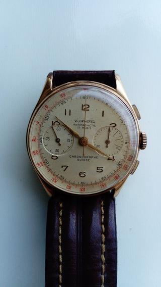 Relógio Chronographe Suisse 17 Rubis Ouro 18k