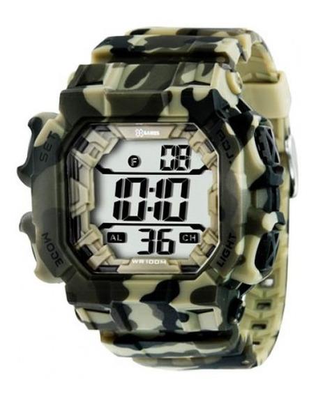 Relógio Masculino X-games Xgppd085 Bxef Digital Camuflado