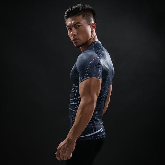 Camiseta Compressao Uv Dryfit The Black Flash Liga Justiça