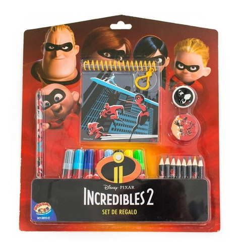 Incredibles 2 Set De Regalo  Para Niños Escolar Útiles