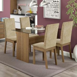 Conjunto Sala De Jantar Vitória Madesa Mesa Com 4 Cadeiras