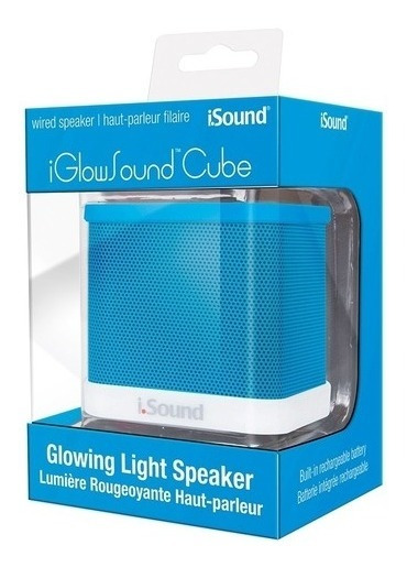 Caixa De Som Speaker Iglowsound Cube Azul