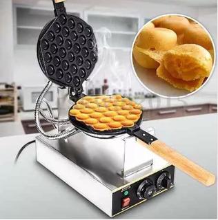 Wafflera Burbuja Huevo Acero Inoxidable + Accesorios