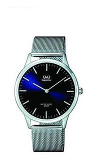 Reloj Hombre Q Q Superior. By Citizen. Acero Tejido.