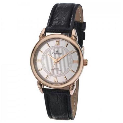 Relógio Feminino Rose Champion Pulseira De Couro Original