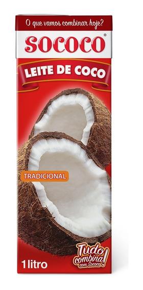Leite De Coco Sococo 1l Tp Kit Com 12 Unidades