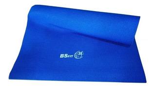 Colchoneta Mat Yoga 6 Mm Pilates Enrollable Bsfit Importado