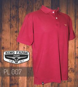 1fa098b73d Camiseta Polo Masculina King Farm Vinho Pl007