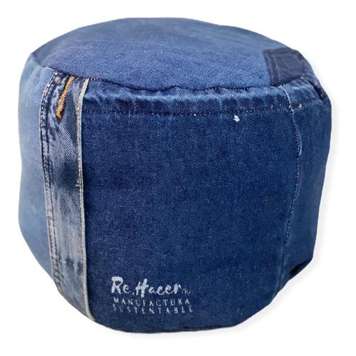 Puff De Jeans, Cojín De Meditación Adulto, Eco Relleno