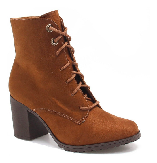 Bota Bebece Feminina Anklew Boots Salto Courino Chicago Linh