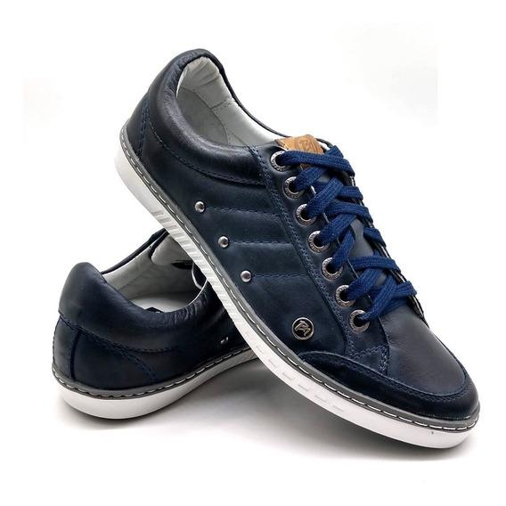 Sapato Tenis Casual Masculino Bmbrasil De Amarar Couro 750
