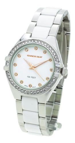 Reloj Knock Out Mujer 2450 Malla Combinada Wr30 Strass