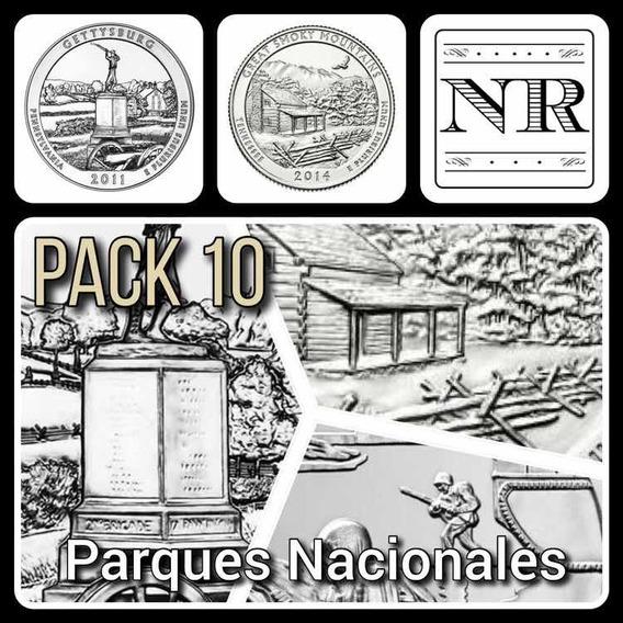 10 Monedas Cuartos Dolar Parques Nacionales - Eeuu Quarters