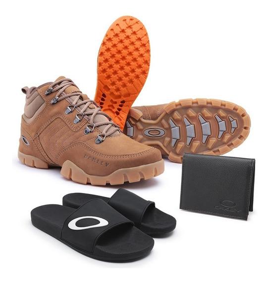 Bota Oakley E Tênis Origina-kit Completo Chinelo + Brinde