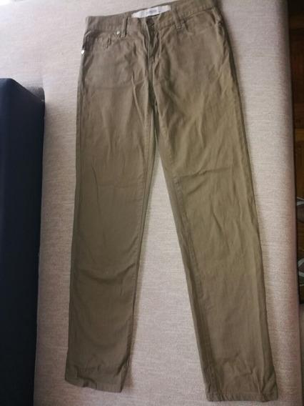 Pantalón Jeans Cardona Talle 40 Color Marrón