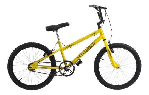 Bicicleta Rebaixada Cross Aro 20 Amarelo V-brake Ultra Bikes