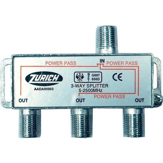 Derivador Splitter Coaxil 3 Vias 5-2050 Mhz E8072