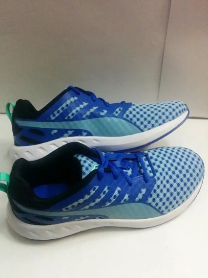Tenis Puma Flare Color Azul,blanco Para Jr