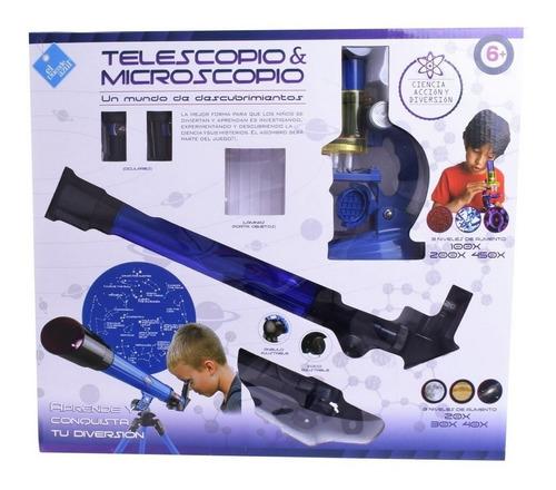 Imagen 1 de 7 de Telescopio Y Microscopio Set 3 Niveles De Aumento Ar1 6257