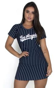 Vestido Los Angeles Camisão Camisa Longline Feminino 284