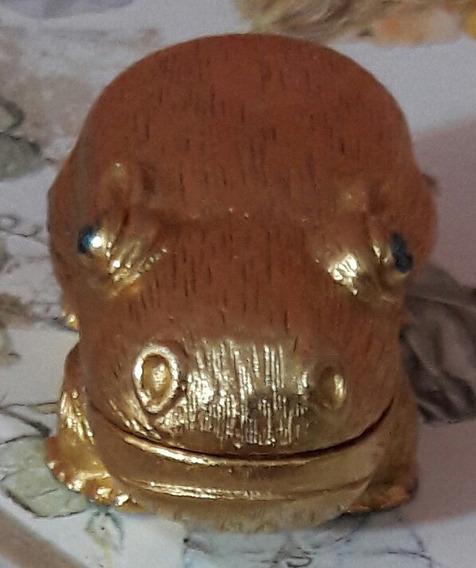 Antigo Hipopótamo Metal Perfumeiro Assinado Exclusivo