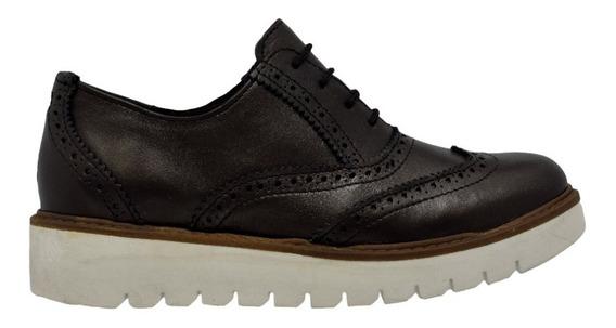 Zapato De Mujer Bostoniano Mujer Piel Pepe Tamayo Negro