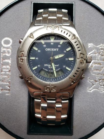 Relógio Orient Masculino Analógico E Digital Mbssa 007 100m