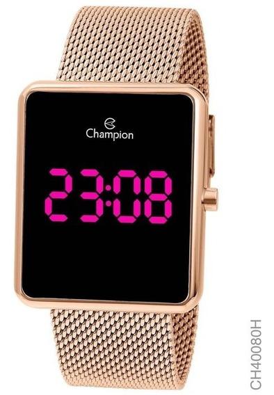 Relógio Digital Feminino Champion Rosê Ch40080h Quadrado