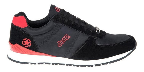 Zapato Casual Jeep S200 Id 825222 Negro Para Hombre