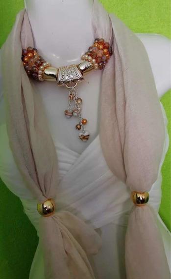 Pashmina, Bufanda Con Collar Envío Gratis, 10 Pzas Mayoreo