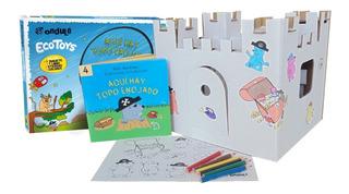 Castillo Para Pintar + Stickers + Libro Topo Enojado