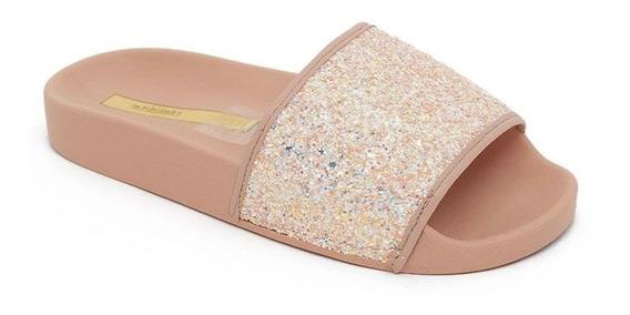 Chinelo Slide Infantil Molekinha 2311.105 Glitter Rosa