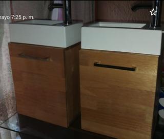 Lavabo, Monomando Y Mueble En Madera De 19mm