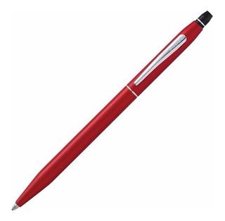 Boligrafo Cross Click Rojo Metalico C/ Grabado De Nombre