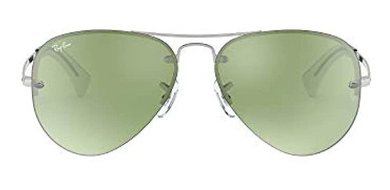Ray-ban Rb3449 Aviator Gafas De Sol Plateado