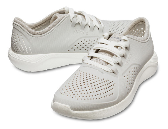 Tenis Caballero Crocs Literide Pacer Gris Claro/blanco
