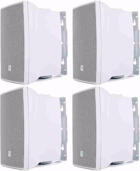 4 Caixa Som Ambiente C621b 50w Rms Branca Jbl Selenium Top