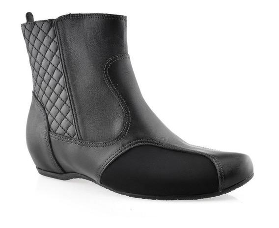 Bota Cano Baixo Usaflex Conforto Proteção Joanetes N5411 Preto