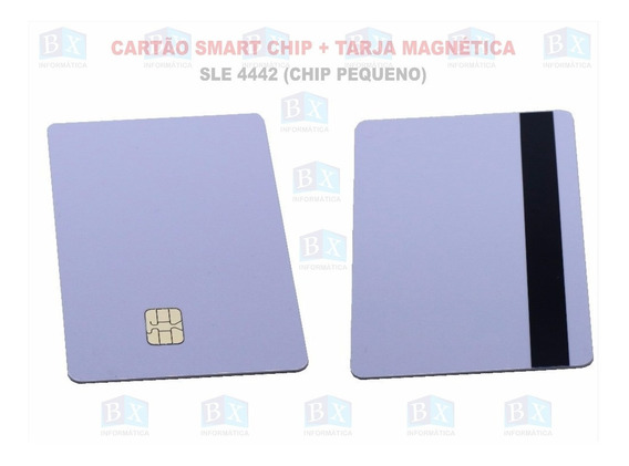 Cartão Smart Card Sle 4442 Sle4442 Tarja 100 Unidades