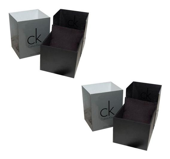 2 Cajas De Reloj Calvin Klein Originales Almohadilla Usada