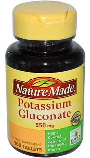 Nature Made Gluconato De Potássio 550mg - 100 Tabs Importado