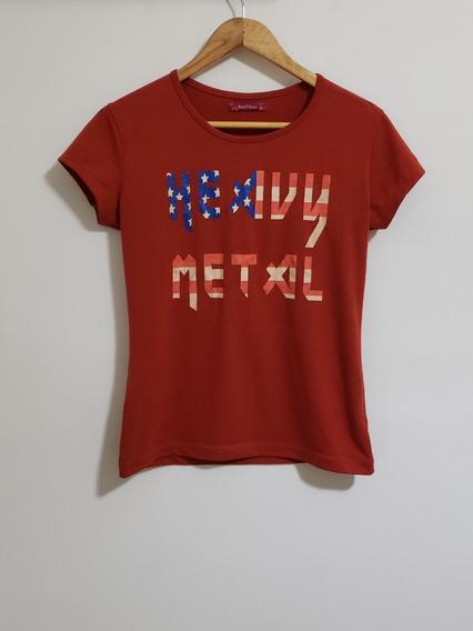 Remera Terracota Heavy Metal Tallel
