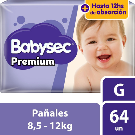 Pañal Babysec Premium G X64