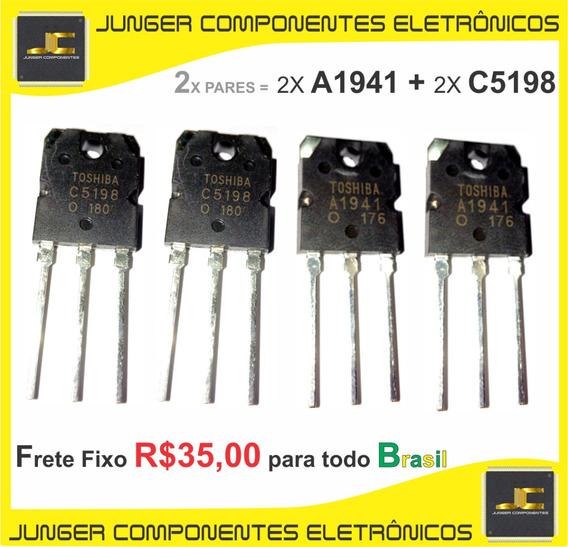 C5198 - A1941 - 2sc5198 - 2sa1941 - Kit Com 2x Par = 4x Pçs