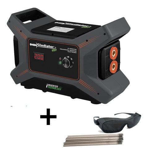 Soldadora Gladiator Compacta 200 Amp. Displey Diseño X