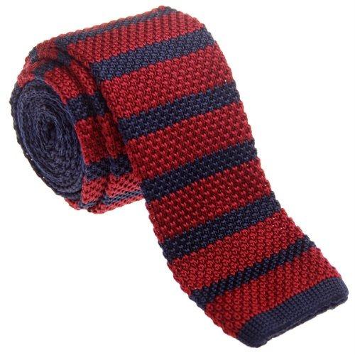 Retreez Corbata Vintage De Lazo Delgado 2 , Rojo/azul
