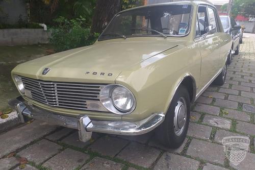 Ford Corcel - 1969 69 - Verde - Placa Preta