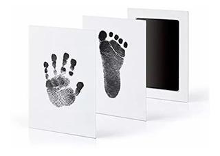 Almohadilla De Tinta De Huella Y Huella De Mano Para Bebés